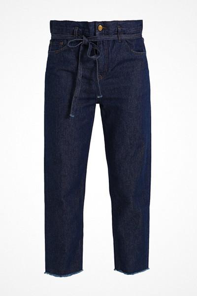 Haikure mörka jeans med hög midja och relaxed fit