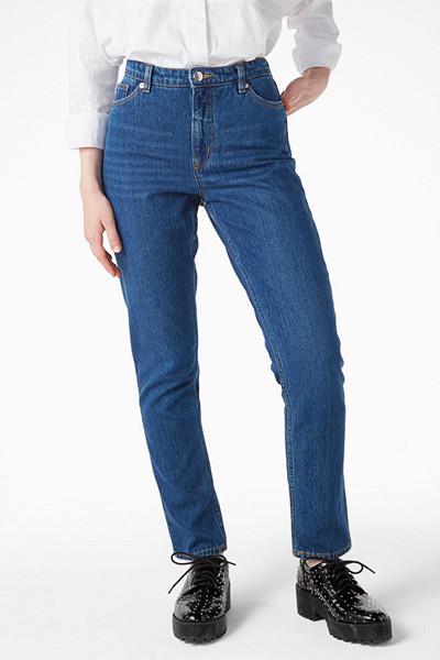 Monki mörka mom-jeans med hög midja