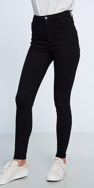 Gina Tricot svarta jeans med hög midja