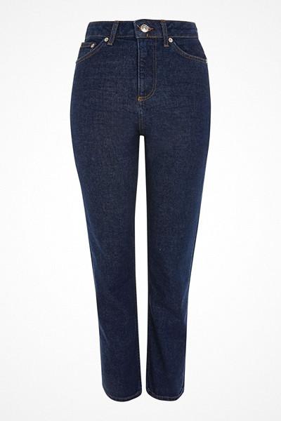Topshop mörka raka jeans