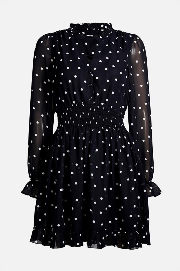 Bik Bok svart prickig klänning