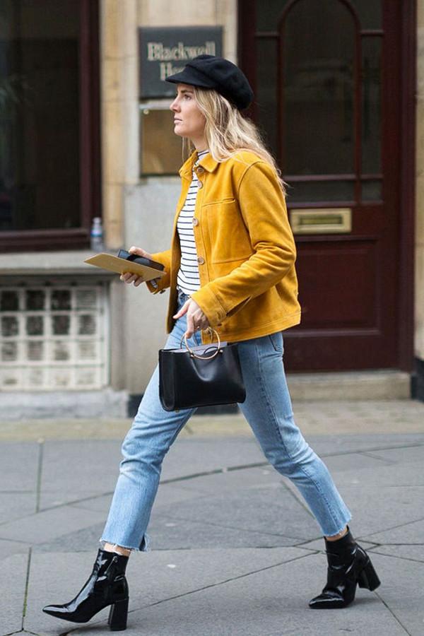 Inspiration gul jeansjacka