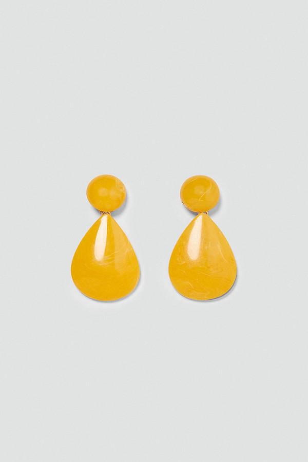 Zara gula droppformade örhängen