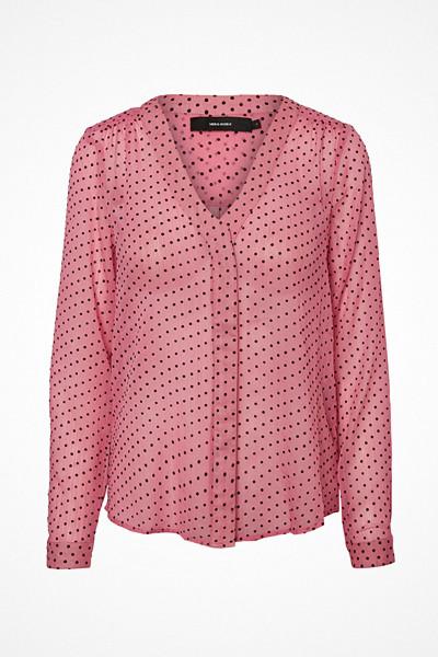 Vero Moda rosa skjorta med svarta prickar