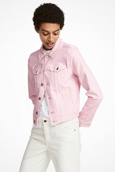 H&M ljusrosa jeansjacka