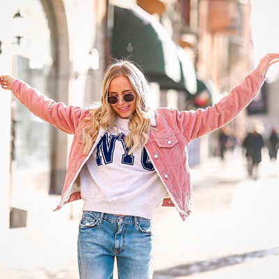 Inspiration Ida Warg i rosa jeansjacka