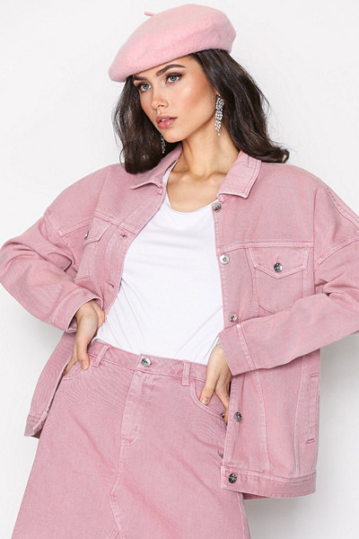 Vero Moda rosa oversize jeansjacka