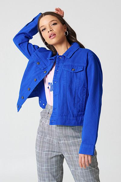 NA-KD Trend klarblå jeansjacka