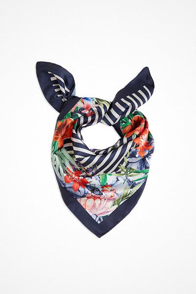 Lindex mönstrad scarf med blommor
