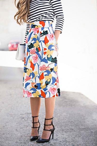 Inspiration blommig kjol