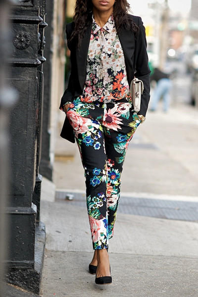 Inspiration blommig outfit