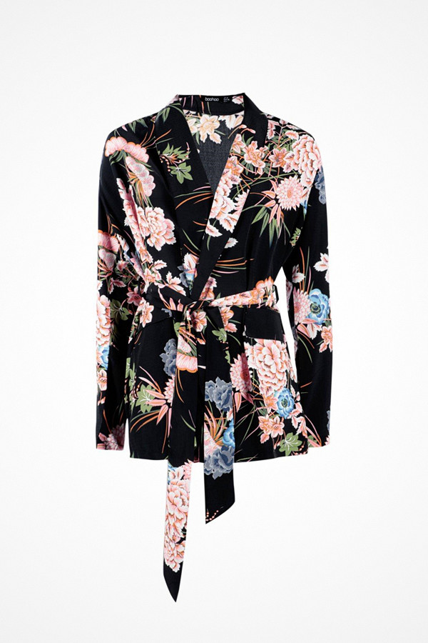 Boohoo blommönstrad blazer