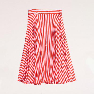 Gina Tricot rosa röd randig kjol