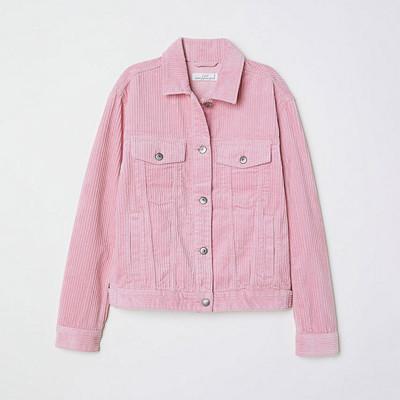 H&M ljusrosa manchesterjacka