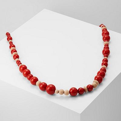 Weekend MaxMara halsband med röda träpärlor