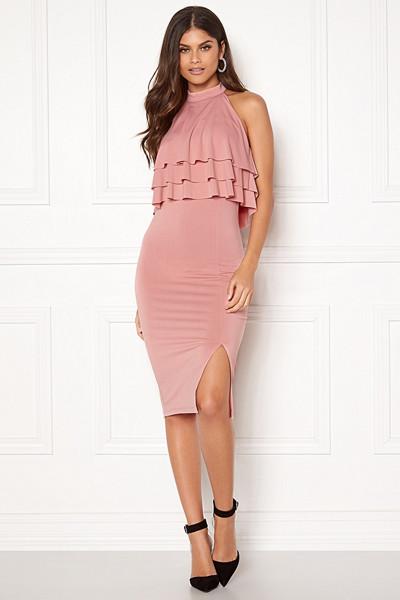 Lovisa Barkman x Bubbleroom rosa klänning Venice Love Dress