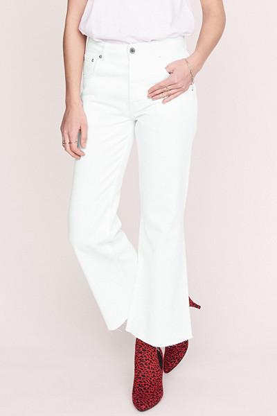 Anine Bing x Gina Tricot vita jeans med vida ben och hög midja