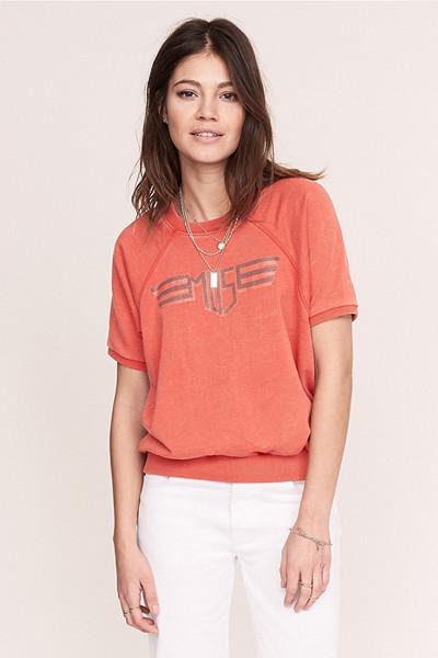 Anine Bing x Gina Tricot orange topp med tryck