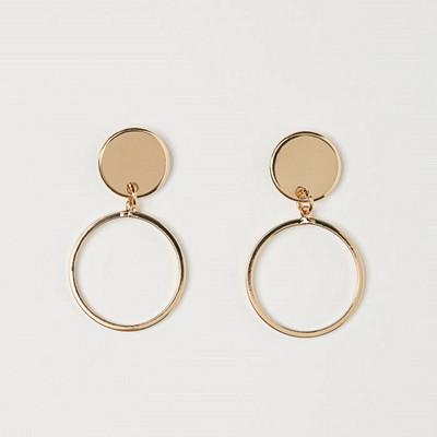 H&M runda örhängen guldfärgade