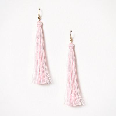 NLY Accessories rosa tofsörhängen