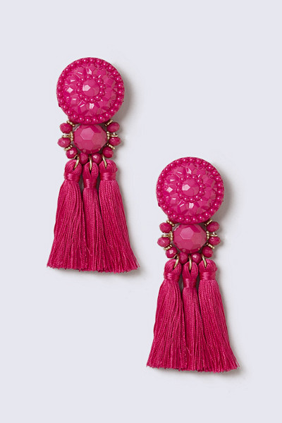 Gina Tricot stora rosa örhängen