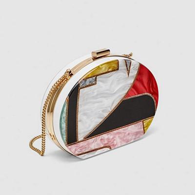 Zara flerfärgad clutch