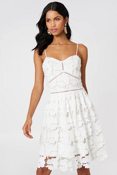 Rut&Circle vit spetsklänning