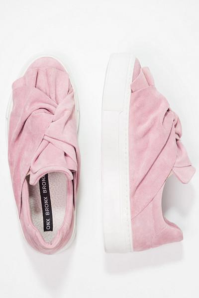 Bronx rosa slip-in skor