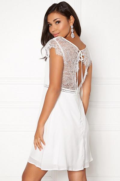 Dry Lake vit klänning med spets