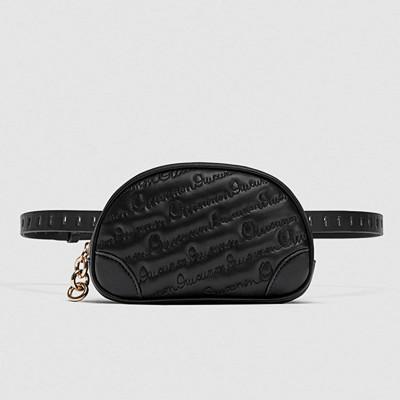 Zara svart magväska
