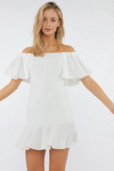 Chiquelle vit klänning singoalla-modell