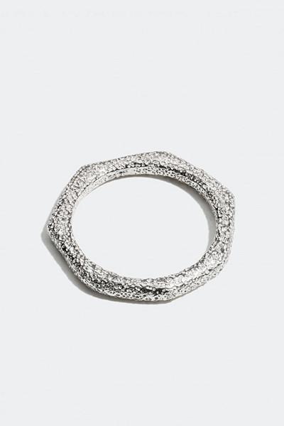 Therése Lindgren x Glitter silverring med naturlig form och struktur