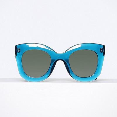 Céline teal-färgade solglasögon med plastbågar