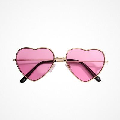 H&M loves Coachella rosa hjärtformade solglasögon