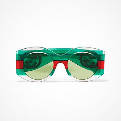 Gucci gröna solglasögon