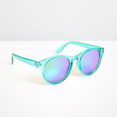 Gina Tricot turkosa solglasögon plastbågar med spegelglas