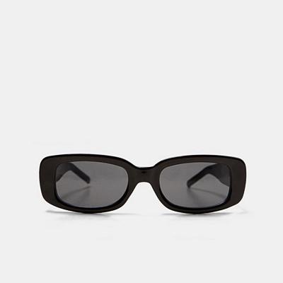 Zara svarta rektangulära solglasögon