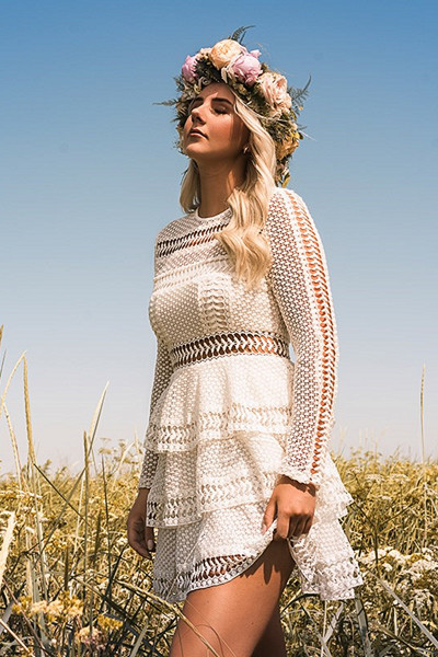 Linn Ahlborg x NA-KD Crochet Dot Dress