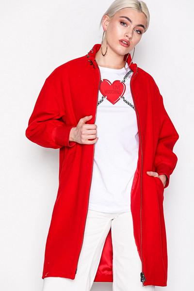 Love Moschino röd kappa