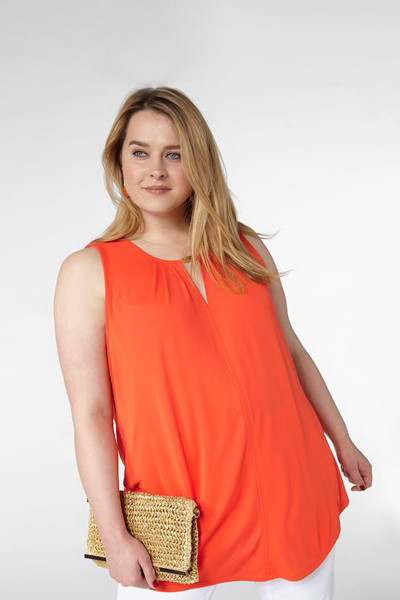 KappAhl orange blus