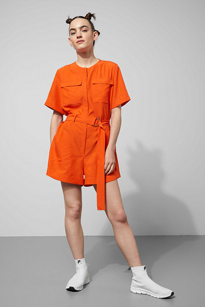 Weekday orange playsuit