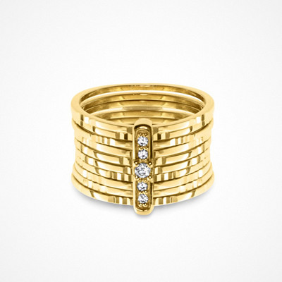 Molly Rustas Heirlooms Diamond Path ring i guld