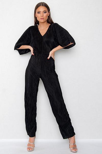 JFR svart plisserad jumpsuit