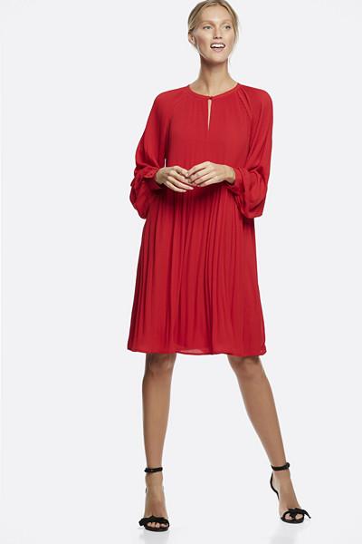 Cubus röd plisserad klänning