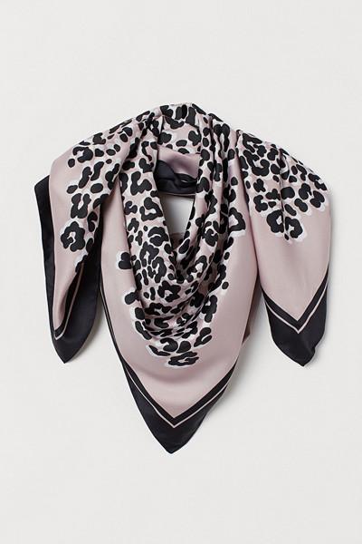 H&M mönstrad satinscarf