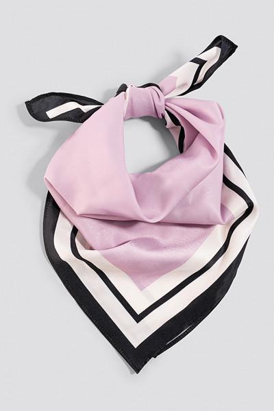 NA-KD Classic rosa randig satinscarf