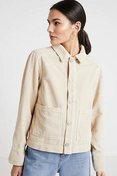 BDG Urban Outfitters crémefärgad manchesterjacka med stora fickor