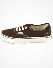 Vans Authentic canvas & tygskor i brun
