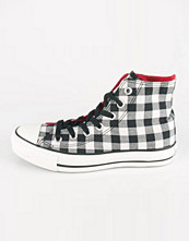 Converse All Star Hi canvas & tygskor i vit