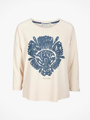 Maison Scotch Sweatshirt med denimapplikationer